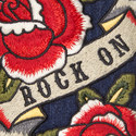 Rose Appliqué Denim Jacket, ${color}