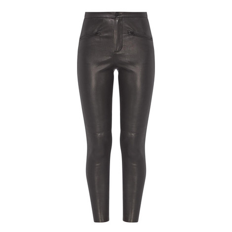 Leather Cropped Trousers, ${color}