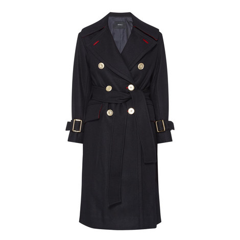 Belted Trench Overcoat, ${color}