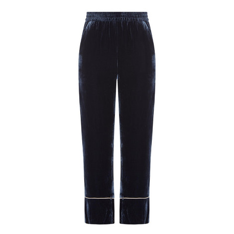 Cropped Velvet Trousers, ${color}
