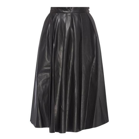 Eco Leather Midi Skirt, ${color}