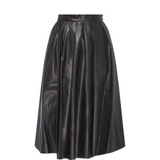 Eco Leather Midi Skirt