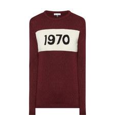 1970 Glitter Wool Sweater