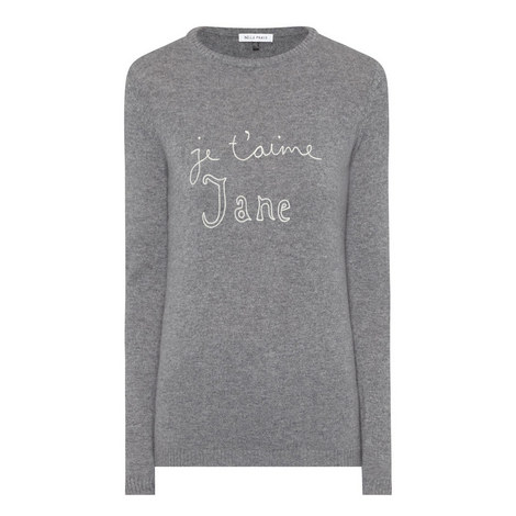 Je T'aime Jane Cashmere Sweater, ${color}
