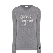 Logo Embroidered Cashmere Sweater