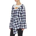 Off-Shoulder Check Shirt, ${color}