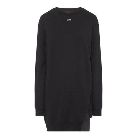 Open Back Sweatshirt Dress, ${color}