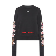 Cherry Blossom Cropped Sweatshirt