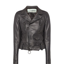 Fern Embroidered Leather Jacket