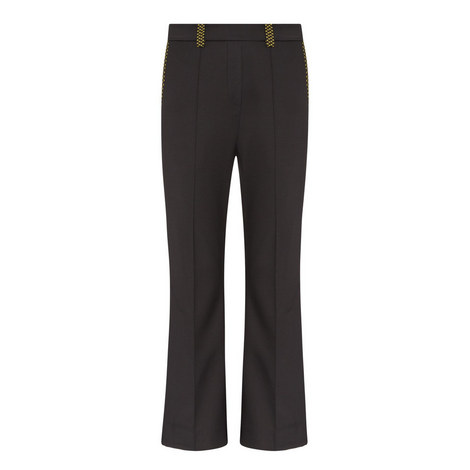 Flared High Rise Trousers, ${color}
