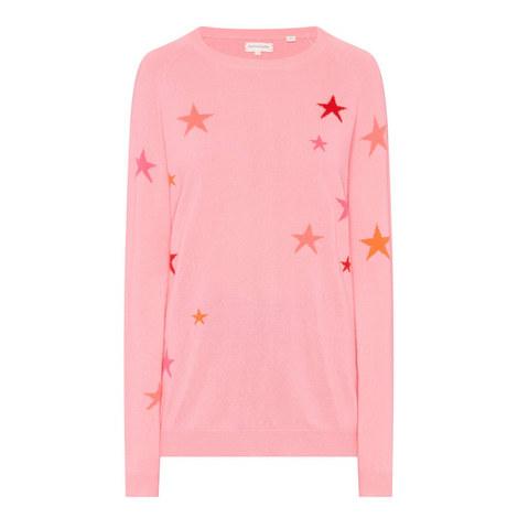 Star Intarsia Cashmere Sweater, ${color}