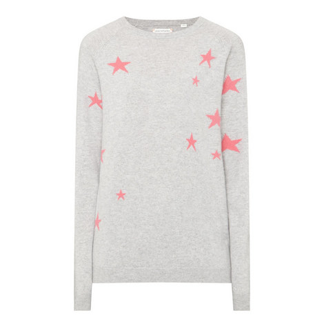 Relaxed Star Intarsia Sweater, ${color}