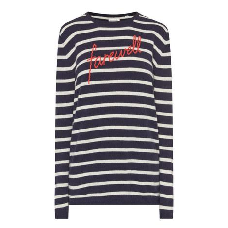 Farewell Stripe Knit Sweater, ${color}