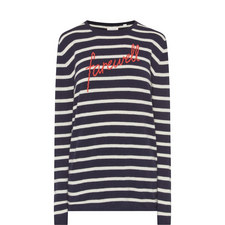 Farewell Stripe Knit Sweater