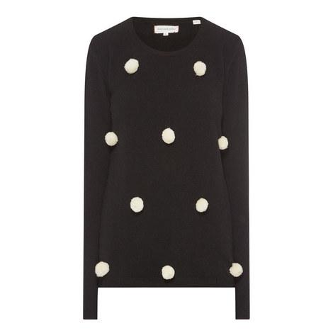 Pom Pom Knit Sweater, ${color}