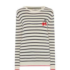 Breton Stripe Cherry Sweater