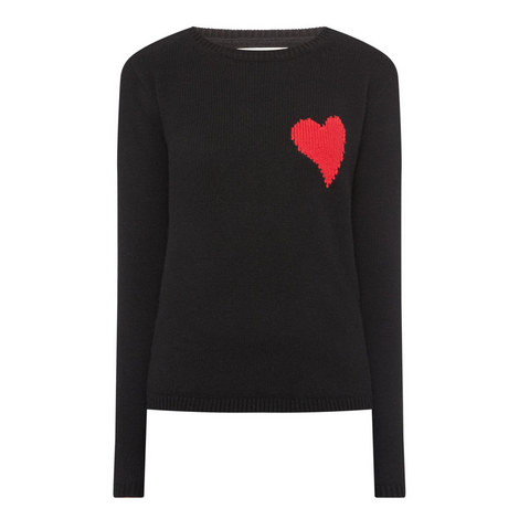 Wool Cashmere Heart Sweater, ${color}