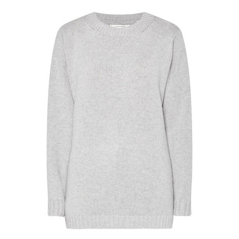 Zip Side Cashmere Sweater, ${color}