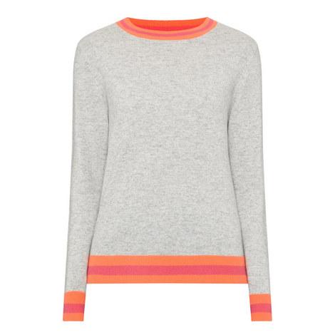 Stripe Trim Sweater, ${color}