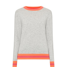 Stripe Trim Sweater