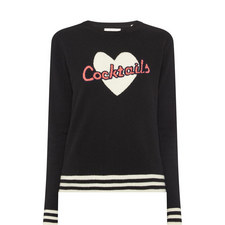 Cocktails Heart Sweater