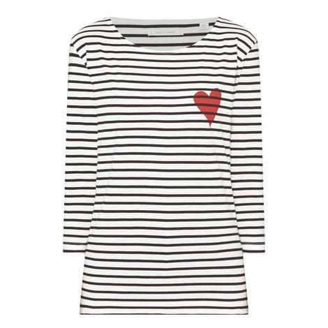 Breton Stripe Heart T-Shirt, ${color}