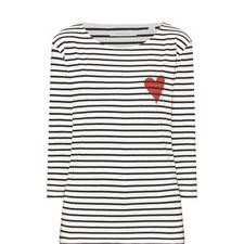 Breton Stripe Heart T-Shirt