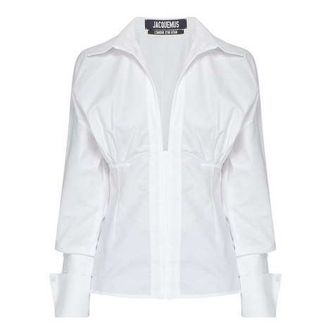 Paula Ruched Waist Shirt, ${color}