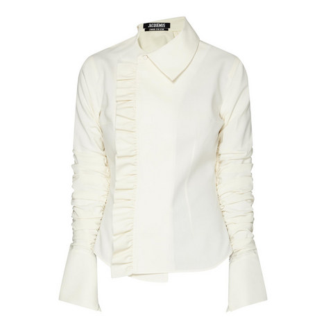 Paco Ruffle-Trimmed Shirt , ${color}