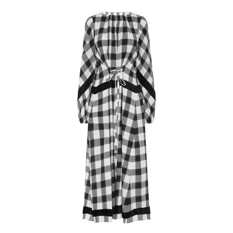 Gathered Plaid Dress, ${color}