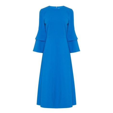 Bell Sleeve Crêpe Dress, ${color}