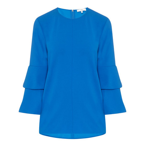 Bell Sleeve Crêpe Top, ${color}