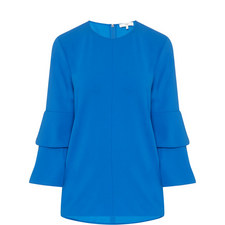 Bell Sleeve Crêpe Top