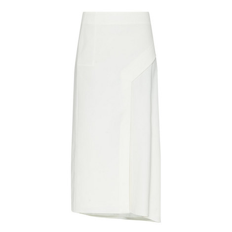 Twill Draped Skirt , ${color}