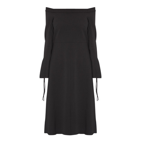 Structured Crêpe Dress, ${color}
