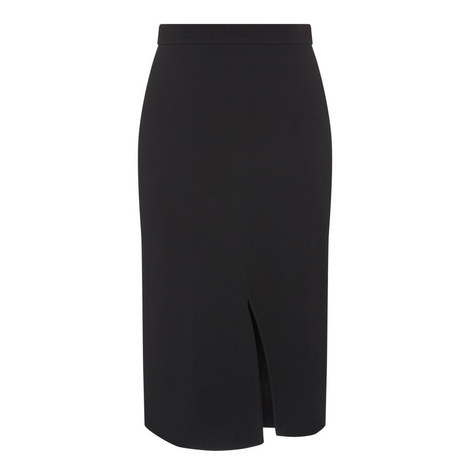 Crêpe Pencil Skirt, ${color}