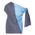 Asymmetrical Colour-Block Stripe Top, ${color}