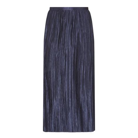 Plissé Pleated Skirt, ${color}