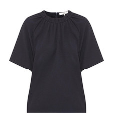 Short Sleeve Crêpe Top