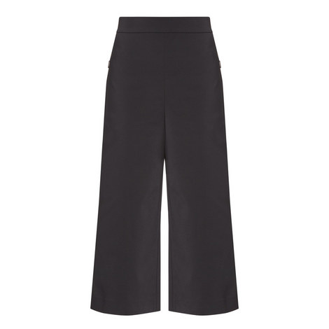 Stretch Cropped Trousers, ${color}