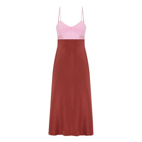 Colour-Block Silk Dress, ${color}