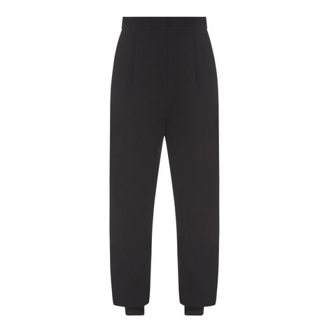 High-Waisted Jogger Trousers, ${color}