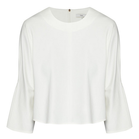 Cropped Bell Sleeve Top, ${color}
