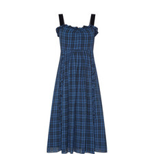 Ruffled Check Dress