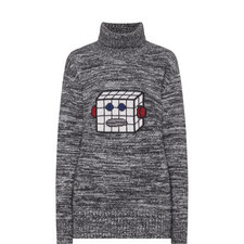 Robot Polo Neck Sweater