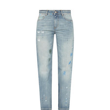 Paint Spatter Low Slung Jeans