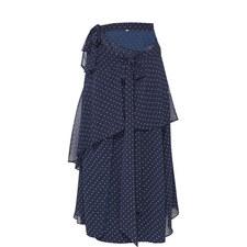Polka Dot Bias Cut Skirt
