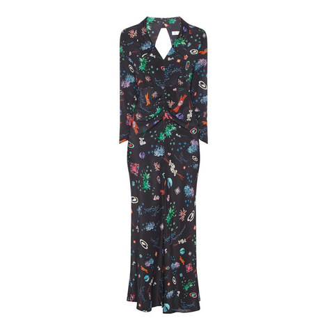 Tori Space Print Midi Dress, ${color}