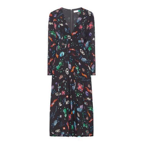 Camellia Space Print Dress, ${color}
