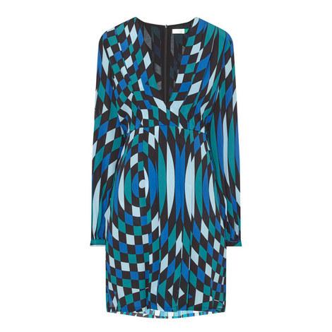 Harper V-Neck Mini Dress, ${color}